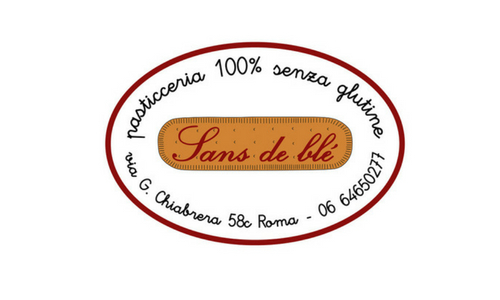 logo sansdeble pasticceria senza glutine roma